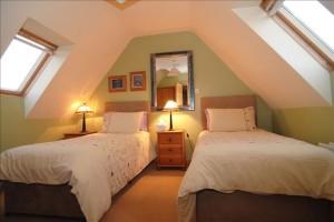 Lisheen House Top Floor Twin Bedroom